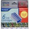 Komp. sada Epson T0481 + T0482 + T0483 + T0484 + T0485 + T0486 multipack (celkem 6ks)