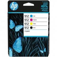 Sada HP 912, černá + modrá + červená +žlutá
