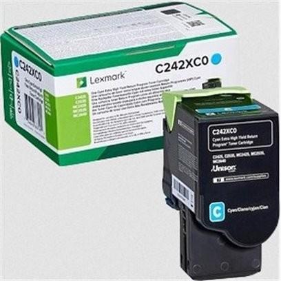 Lexmark C242XC0 modrý (3500 stran)