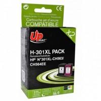 Sada kompatibilní HP 301XL černá + barevná HP 14ml + 18ml