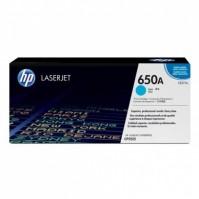 Toner HP 650A, HP CE271A modrý