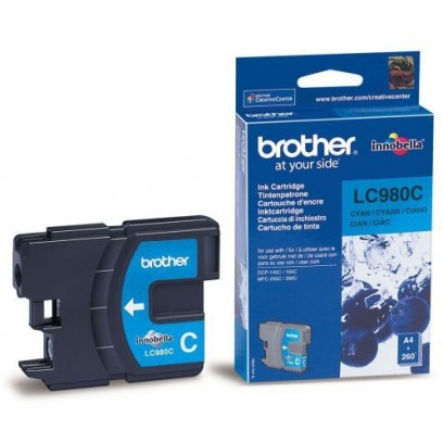 Brother LC-980C azurová