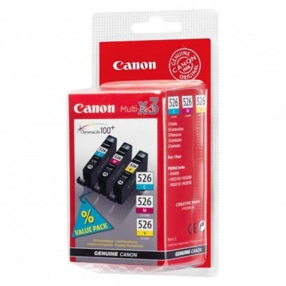 Sada Canon CLI-526Y + CLI-526M + CLI-526C