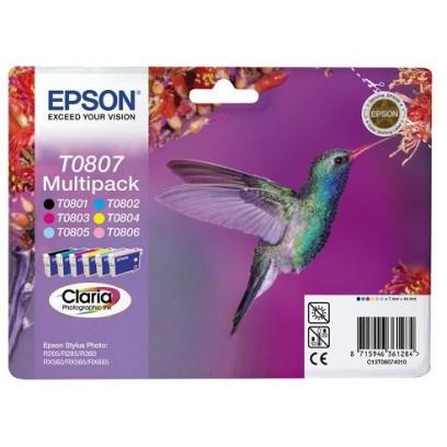 Sada Epson T0801 + T0802 + T0803 + T0804 + T0805 + T0806