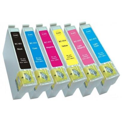 Sada kompatibilní cartridge Epson T0801+T0802+T0803+T0804+T0805+T0806